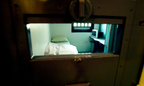 A cell at Bronzefield women's prison