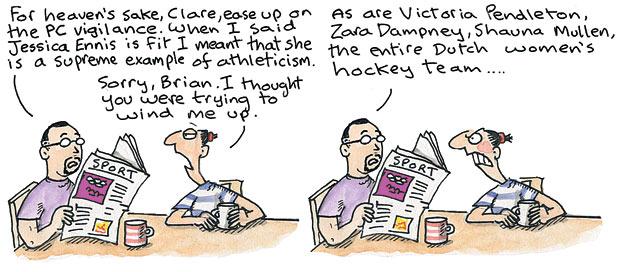 Clare in the community cartoon