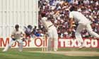 Viv Richards hits out on his way to 189 not out at Old Trafford in 1984