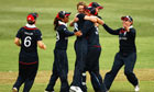 England women's cricket team during the victory over New Zealand
