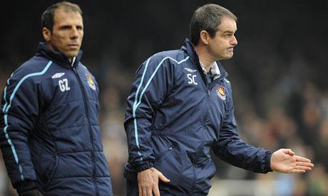 West Ham's Gianfranco Zola, Steve Clarke