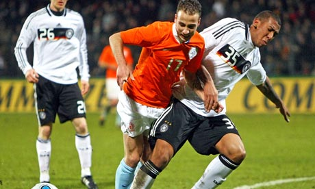 Roy Beerens playing for the Holland U21 side