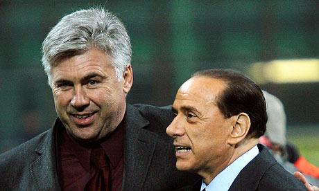 Carlo Ancelotti and Silvio Berlusconi