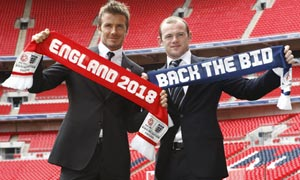 David Beckham and Wayne Rooney helped launch England's 2018 bid.