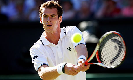 andy murray. Andy Murray in action