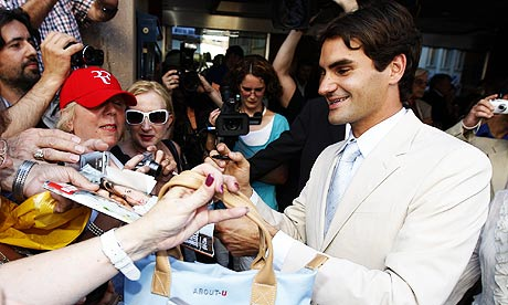 Parents de Roger Federer Roger Federer Celebrates