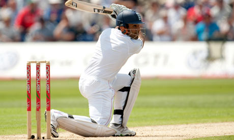 England's Ravi Bopara bats on day one of the first Ashes Test
