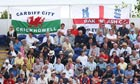 Fans watch on at Sophia Gardens