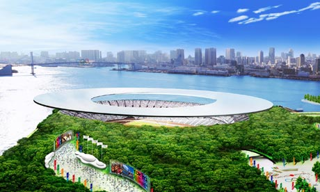 The proposed 2016 Olympic Stadium in Tokyo