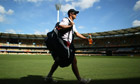 Andrew Strauss strides across The Gabba, the venue for the first day of this Ashes series