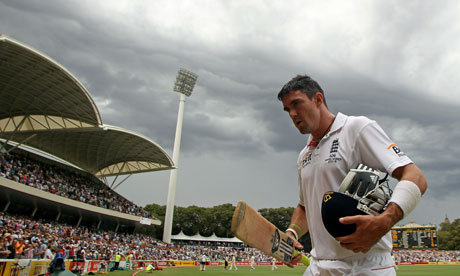Only the rain could stop Kevin Pietersen as he made 213 not out in Adelaide