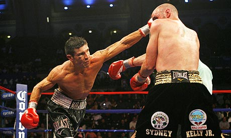 Sergio Martinez and Kelly Pavlik during their middleweight world title bout