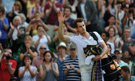 andy murray wimbledon 2010. Andy Murray celebrates beating