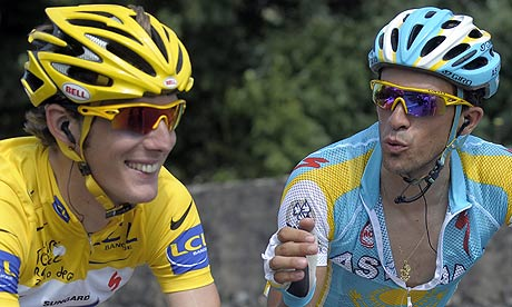 Andy Schleck and Alberto Contador