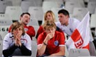 Dejected England fans following their team's 4-1 loss to Germany at the World Cup in South Africa