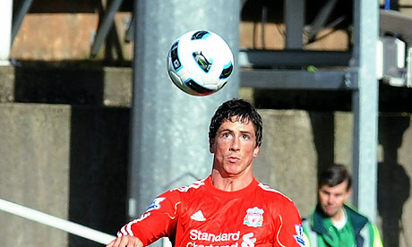 Fernando Torres scored Liverpool's first goal when they beat Manchester United 4-1 in March 2009.