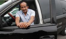 Cab driver Cineo Gonzalez