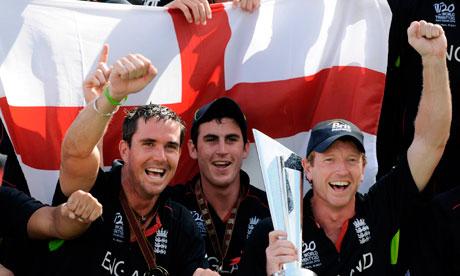 Kevin Pietersen, Craig Kieswetter and Paul Collingwood