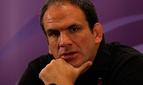 Martin Johnson, the England team manager after defeat to France