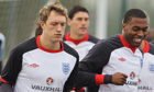 Phil Jones trains with England