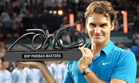 Roger Federer beats Jo-Wilfried Tsonga to win Paris Masters title