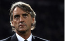 Roberto Mancini, the Manchester City manager, during the match against Napoli