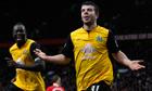 Blackburn Rovers' Grant Hanley celebrates