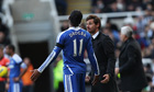 Chelsea's Didier Drogba with manager André Villas-Boas