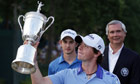 Rory McIlroy poses with the US Open trophy