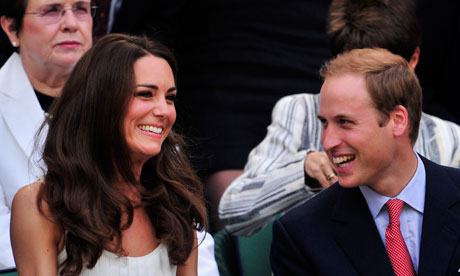 Prince William and Kate the Duchess of Cambridge on Centre Court