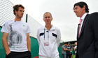 Andy Murray, John McEnroe and Rory McIlroy
