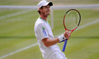 Andy Murray celebrates breaking serve in the third set in his victory over Feliciano López