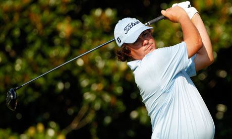 Jason Dufner drives on the ninth tee at the US PGA