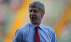 The Arsenal manager Arsène Wenger spoke of his relief after the victory over Udinese.