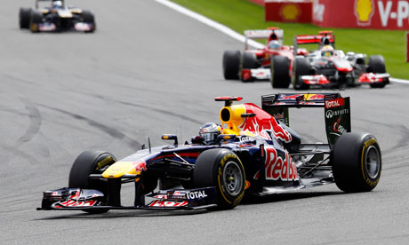 Red Bull driver Sebastian Vettel earned another win with a comfortable victory at Spa
