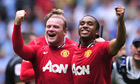 Wayne Rooney celebrates with Anderson