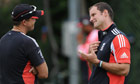 England's Andrew Strauss and Andy Flower