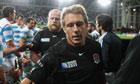 England's Jonny Wilkinson against Argentina