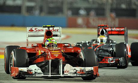 Bernard Harrison Picture Singapore on Ferrari S Felipe Massa And Malauren S Lewis Hamilton  Singapore Gp