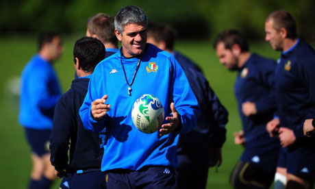 Italy's coach Nick Mallett is confident that his pack will come out on top against Ireland