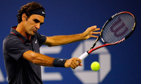 Roger Federer faces Jo-Wilfried Tsonga in the quarter-finals of the US Open