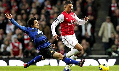 Alex Oxlade-Chamberlain set up Robin van Persie's equaliser for Arsenal