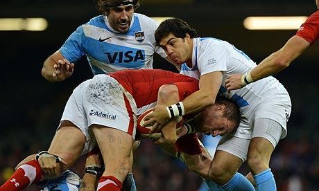 Wales prop Gethin Jenkins faces Argentina