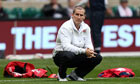 England head coach Stuart Lancaster at Twickenham