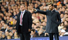 Tottenham Hotspur manager André Villas-Boas and West Ham's Sam Allardyce at White Hart Lane