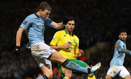 Edin Dzeko in action against Norwich City