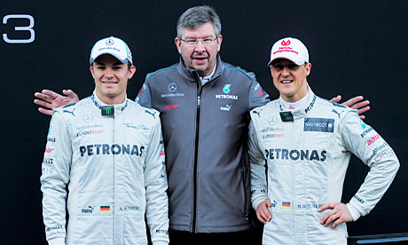 Mercedes Petronas F1 team drivers German