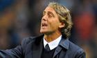 Manchester City's Italian manager Roberto Mancini