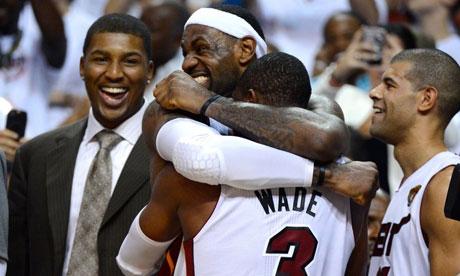Miami Heat celebrate victory