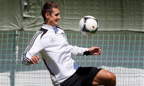 Germany's Miroslav Klose is in line to start against Greece